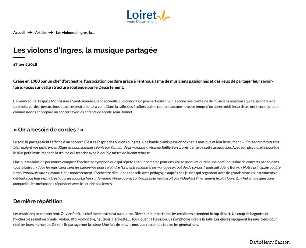 Les violons d'Ingres, la musique partagée _ Conseil départemental du Loiret_01